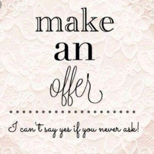 Reasonable offers always welcome!